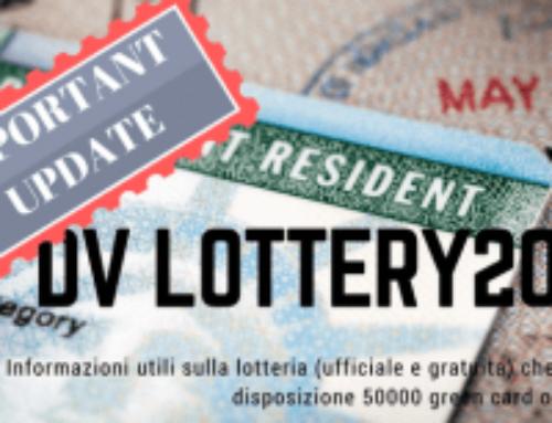 DV lottery 2019 aggiornamento