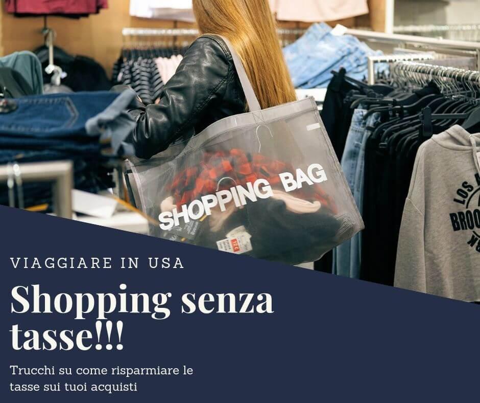 shopping senza tasse