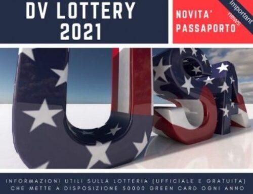 Passaporto novità  per la DV Lottery 2021