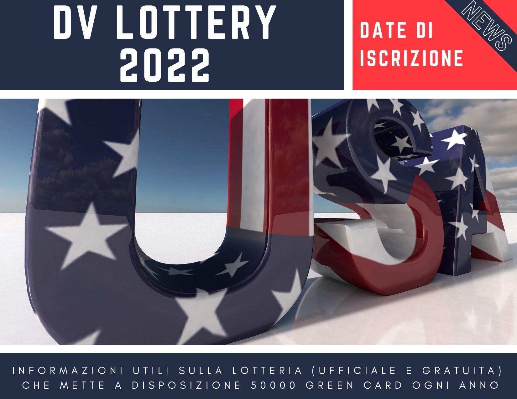 Possibili date di iscrizione per la DV-2022